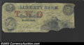 Obsoletes By State:Rhode Island, 1858 $2 Liberty Bank, Providence, RI, Good. ...