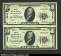 National Bank Notes:Maryland, Brunswick, MD - $10 1929 Ty. 1 Peoples NB of Brunswick ... (2notes)