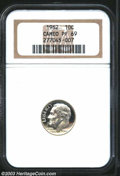 Proof Roosevelt Dimes: , 1962 PR 69 Cameo NGC. ...