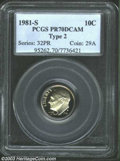 Proof Roosevelt Dimes: , 1981-S Type Two PR 70 Deep Cameo PCGS. ...