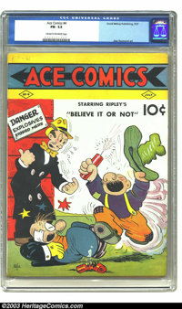 Ace Comics #4 (David McKay Publications, 1937) CGC FN- 5.5 Cream to off-white pages. Alex Raymond art. Highest grade yet...