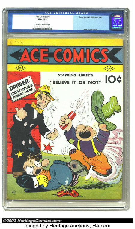 Ace Comics #4 (David McKay Publications, 1937) CGC FN- 5.5 Cream to off-white pages. Alex Raymond art. Highest grade yet cer...