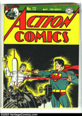 Golden Age (1938-1955):Superhero, Action Comics #72 (DC, 1944) Condition: VG. Classic Superman cover. Overstreet 2003 VG 4.0 value = $156....