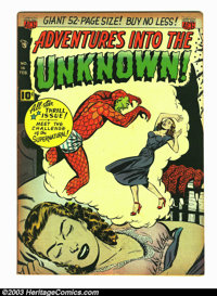 Adventures Into the Unknown #16 (ACG, 1951) Condition: VF-. Beautiful looking, high-grade book with some tanning that br...