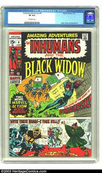 Amazing Adventures #4 The Inhumans and the Black Widow (Marvel, 1971) CGC VF 8.0 Off-white pages. Kirby, Colan, and Ever...