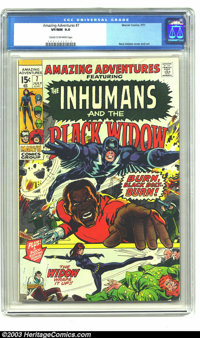 Amazing Adventures #7 (Marvel, 1971) CGC VF/NM 9.0 Cream to off-white pages. Features the Inhumans and the Black Widow...