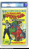 Bronze Age (1970-1979):Superhero, Amazing Spider-Man #129 (Marvel, 1974) CGC NM 9.4 Cream tooff-white pages. First appearance of the Punisher and theJackal....