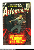 Golden Age (1938-1955):Horror, Astonishing #59 (Atlas, 1957) Condition: FN. Overstreet 2003 FN 6.0value = $48....