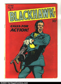 Golden Age (1938-1955):War, Blackhawk #19 (Quality, 1948) Condition: GD+. Silverfish damage on back cover. Overstreet 2003 GD 2.0 value = $65....