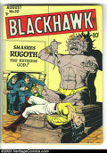 Golden Age (1938-1955):War, Blackhawk #20 (Quality, 1948) Condition: GD+. Silverfish damagealong bottom of front and back covers. Overstreet 2003 GD 2....