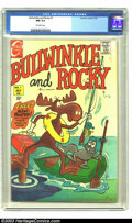 Bronze Age (1970-1979):Cartoon Character, Bullwinkle and Rocky #1 (Charlton, 1970) CGC NM 9.4 Off-whitepages. Highest graded copy. Overstreet 2003 NM 9.4 value = $70...