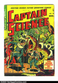 Golden Age (1938-1955):Science Fiction, Captain Science #5 (Youthful Magazines, 1951) Condition: GD. WallyWood art. Big tear at top of spine. Overstreet 2003 GD 2....