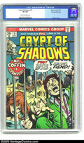 Bronze Age (1970-1979):Horror, Crypt of Shadows #15 Stan Lee File Copy (Marvel, 1975) CGC VF 8.0Cream to off-white pages. Gil Kane cover. Overstreet 2002 ...