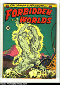 Golden Age (1938-1955):Horror, Forbidden Worlds #9 (ACG, 1952) Condition: FN/VF. Cool pre-codehorror. A-Bomb explosion story. Overstreet 2003 FN 6.0 value...