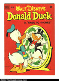 Golden Age (1938-1955):Funny Animal, Four Color #356 Donald Duck (Dell, 1951) Condition: FN-. Carl Barkscover. Overstreet 2003 FN 6.0 value = $51. From the co...