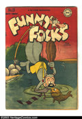Golden Age (1938-1955):Funny Animal, Funny Folks #10 (DC, 1947) Condition: VG+. Nutsy Squirrel cover.Overstreet 2003 VG 4.0 value = $22....