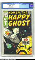 Bronze Age (1970-1979):Humor, Homer, the Happy Ghost #2 (Marvel, 1970) CGC VF/NM 9.0 Cream to off-white pages. This is the highest graded copy of this rar...