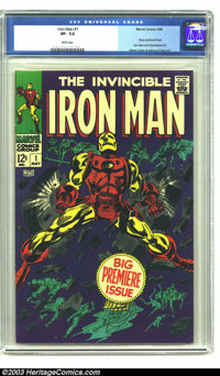 Iron Man #1 (Marvel, 1968) CGC VF- 7.5 White pages. Story continued from Iron Man and Sub-Mariner #1. Gene Colan and Joh...