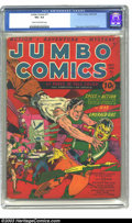 Golden Age (1938-1955):Adventure, Jumbo Comics #11 (Fiction House, 1940) CGC VG+ 4.5 Cream tooff-white pages. Lou Fine cover, Powell and Eisner artwork. Over...