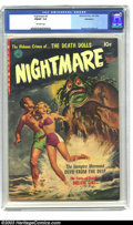 Golden Age (1938-1955):Horror, Nightmare #2 Bethlehem pedigree (Ziff-Davis, 1952) CGC FN/VF 7.0Off-white pages. Raymond Kinstler art. Poe's Pit and the Pe...