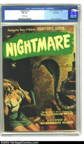 Golden Age (1938-1955):Horror, Nightmare Bethlehem pedigree #3 (Ziff-Davis, 1953) CGC FN 6.0Off-white pages. Raymond Kinstler art. Overstreet 2003 FN 6.0 ...