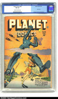 Golden Age (1938-1955):Science Fiction, Planet Comics #48 (Fiction House, 1947) CGC FN 6.0 Cream tooff-white pages. Robot cover, artwork by Anderson and Evans. Ove...