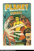 Golden Age (1938-1955):Science Fiction, Planet Comics #49 (Fiction House, 1947) Condition: GD+. Here isanother fantastic cover from this great run. Cover detached,...