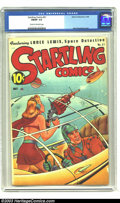 Golden Age (1938-1955):Science Fiction, Startling Comics #51 (Better Publications, 1948) CGC FN/VF 7.0Cream to off-white pages. Beautiful Alex Schomburg cover. Ove...