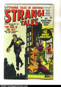Golden Age (1938-1955):Horror, Strange Tales #38 (Marvel, 1955) Condition: VG. Overstreet 2003 VG4.0 value = $40....