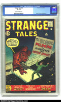 Silver Age (1956-1969):Adventure, Strange Tales #94 (Marvel, 1962) CGC VF- 7.5 Cream to off-white pages. The Thing prototype issue. Kirby, Sinnott and Ditko a...