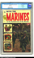 Golden Age (1938-1955):War, With the Marines on the Battlefronts of the World #1 Bethlehempedigree (Toby Publishing, 1953) CGC VF 8.0 Off-white to white ...