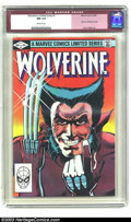 Modern Age (1980-Present):Superhero, Wolverine (limited series) #1 (Marvel, 1982) CGC NM 9.4 Off-whitepages. First solo Wolverine comic. Frank Miller art. Overs...