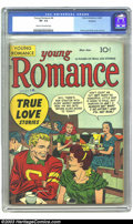Golden Age (1938-1955):Romance, Young Romance Comics #4 Rockford pedigree (Prize, 1948) CGC VF- 7.5Cream to off-white pages. Simon and Kirby artwork. Overs...