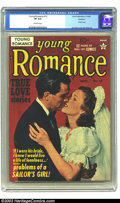 Golden Age (1938-1955):Romance, Young Romance Comics #13 Rockford pedigree (Prize, 1949) CGC VF 8.0Off-white pages. Photo cover, art by Jack Kirby and Joe ...