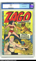 Golden Age (1938-1955):Adventure, Zago #1 (Fox Features Syndicate, 1948) CGC VF 8.0 Off-white pages. CGC lists only one nicer copy of this premiere issue, not...