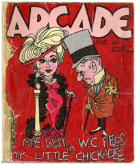 Robert Crumb - Original Cover Art for Arcade #23 (No Publisher, 1962). Arcade was a series of sketches drawn in a note b...
