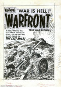 Original Comic Art:Covers, Lee Elias - Original Cover Art for Warfront #19 (Harvey, 1954). LeeElias discharges another dynamite cover from the Harvey ...