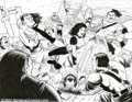 Original Comic Art:Splash Pages, Brendon and Brian Fraim - Original Splash Page Art for Knights of the Dinner Table Illustrated # 22, page 3 (Kenzer & Co., 2003)...