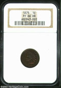 Proof Indian Cents: , 1875 PR 66 Red and Brown NGC. ...