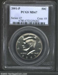 Kennedy Half Dollars: , 2001-P MS67 PCGS. ...