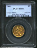 Proof Liberty Half Eagles: , 1901 PR 55 PCGS. ...
