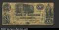 Obsoletes By State:Louisiana, 1862 $20 Bank of Louisiana, New Orleans, LA, Very Good-Fine. ...