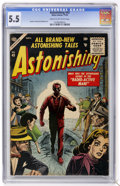 Silver Age (1956-1969):Horror, Astonishing #43 (Atlas, 1955) CGC FN- 5.5 Cream to off-whitepages....