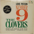 """Music Memorabilia:Recordings, Clovers """"Love Potion Number 9"""" LP (United Artist 3099, 1959). Theclassic doo-wop group had their biggest crossover hit with..."""