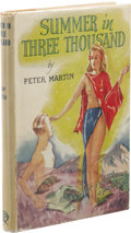 Books:First Editions, Peter Martin: Summer in Three Thousand. (London: QualityPress, Inc., 1946), first edition, 184 pages, orange cloth with...
