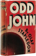 Books:First Editions, Olaf Stapledon: Odd John: A Story Between Jest andErnest. (New York: E. P. Dutton & Company, Inc., 1936),first Ame...