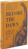 Books:First Editions, John Taine: Before the Dawn. (Baltimore: The Williams &Wilkins Company, 1934), first edition, 247 pages, bound in blue ...