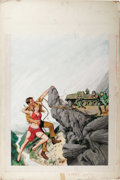 Illustration:Magazine, AMERICAN ILLUSTRATOR (20th Century) . Untitled, 1967 .Gouache on board . 20 x 29in. . Not signed . Real Combat,Ju...