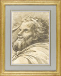 Fine Art - Painting, European:Antique  (Pre 1900), A 19th Century Figurative Drawing. Unknown maker, Italian. Nineteenth Century. Graphite on paper. 16.7 inches x 11.5 inche...