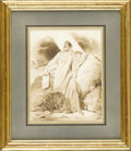 Fine Art - Painting, European:Antique  (Pre 1900), An Italian 19th Century Watercolor. Unknown artist, Italian. 19th Century. Watercolor and ink on paper. 12.25 inches x 10....